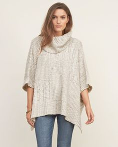 Turtleneck poncho from… abercrombie!? Finally updating their stuff… haven't shopped here since probably 2005.
