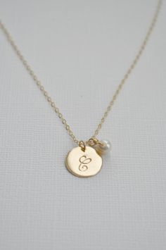 Sterling silver disc initial necklace personalized dot round tiny sterling silver disc initial necklace personalized dot round tiny disc charm hand stamped sweet gift for her simple everyday jewelry initial necklaces mozeypictures Gallery