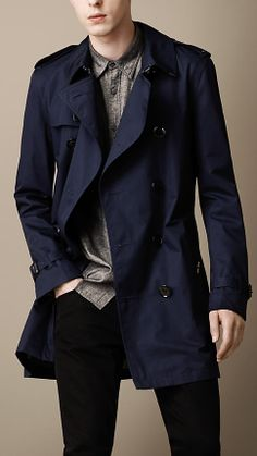 Mid-Length Cotton Trench Coat | Burberry