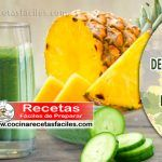 Receta de batido desintoxicante de piña y pepino para adelgazar Healthy Juices, Healthy Drinks, Healthy Recipes, Flat Tummy Water, Flan Recipe, Healthy Style, Weight Loss Drinks, Natural Medicine, Health Remedies