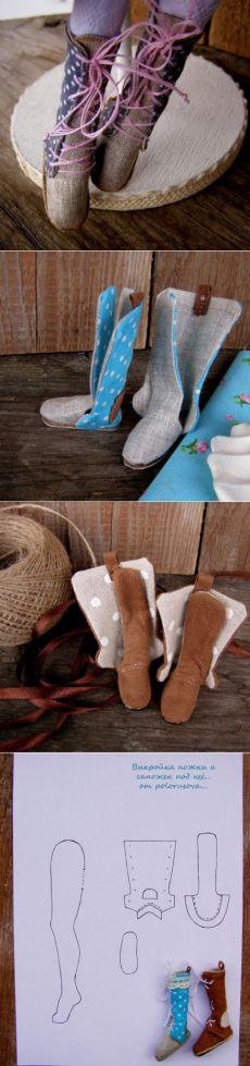 La terapia de la muñeca. Para las muñecas enfermas. Patrón piernas y botas