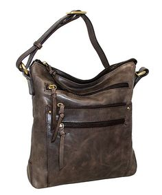 Another great find on #zulily! Chocolate Judy in the Sky Leather Crossbody Bag #zulilyfinds