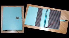 mes cartonnages/ agenda turquoise