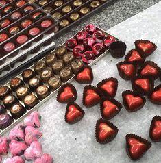 Handmade hearts and some other pralines Hearts, Handmade, Hand Made, Handarbeit