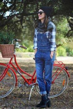 カントリー風でなんだかかわいい♡参考にしたいつなぎのコーデ・スタイル・ファッション♪