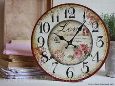 PANDILLA BASURITA II... DECORACION ECONOMICA, RECICLADOS, RECUPERADOS, RESTAURADOS ETC... | Aprender manualidades es facilisimo.com All The Small Things, Decoupage Vintage, Diy Clock, Shabby Chic Cottage, Vintage Modern, Graphic 45, Time Art, Floral Style, Wood Crafts