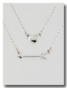 Love Struck Silver Tone Inspirational Necklace.  www.alilbitofinspiration.com.au