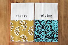 thanks & giving dish towels