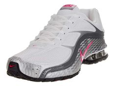 low priced 2d0df d8a4a Nike Women s Reax Run 5 White White Mtllc Slver Drk Gry Running Shoe Women  US. Double-lasted forefoot provides enhanced comfort and stability.