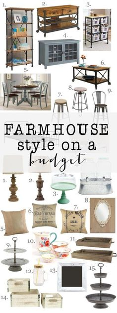 Looking for farmhouse style furniture and home decor, but don't want to break the bank. Check out these great items to give you Farmhouse Style on a Budget
