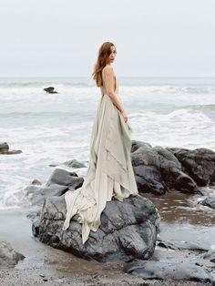 serene oceanside wedding Inspiration
