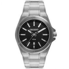 [ Ricardo Eletro ] - Relógio Masculino Orient Analógico, Pulseira de Aço - R$ 125,91