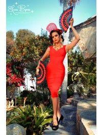 Erin Wiggle Dress in Red