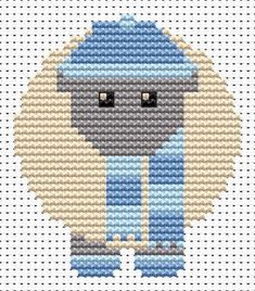 Sew Simple Winter Sheep cross stitch kit
