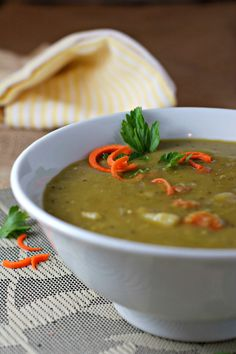 Simple Split Pea Soup ~vegan, gluten free~ Super simple to make and so good for you too!