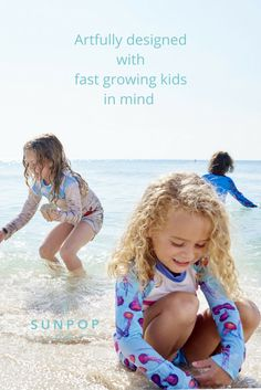 Kids grow fast and we kept that in mind when redesigning our swimming costumes. Rash guards and leggings with elongated sleeves, tails and legs that allow your kids to grow into these trendy outfits comfortably. Sun Pop Life, Sun protection your kids will actually want to wear. Join our upcoming launching virtual party, visit our website for more information  http://SunPopLife.com