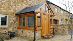 oak porch and oak door