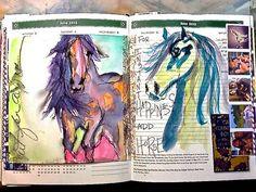 Hand drawn journal