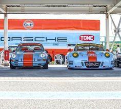 Porsche racecars