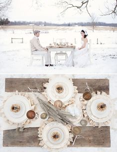 winter neutrals tablescape