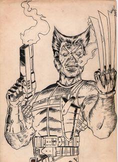Wolverine, agente da Shield! Há muito tempo atrás, desenho inacabado.