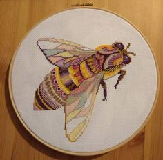 Cross stitch community - patterns, discussions, giveaways, and competition! Bee Embroidery, Cross Stitch Embroidery, Embroidery Patterns, Cross Stitch Patterns, Cute Bee, Needlepoint Patterns, Craft Fairs, Cross Stitching, Blackwork
