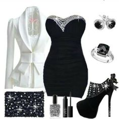 black, white, and diamonds
