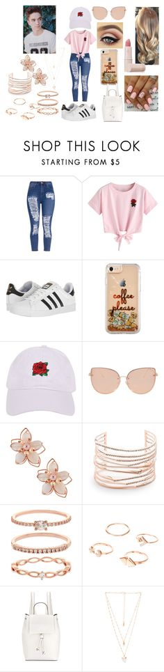 """""""Spring Park Picnic With Daniel Seavey"""" by roxy-crushlings on Polyvore featuring WithChic, adidas, Armitage Avenue, Topshop, NAKAMOL, Alexis Bittar, Accessorize, French Connection, Natalie B and Lipstick Queen"""