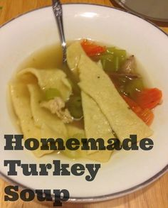 My Little Devils With Wings - Homemade turkey soup