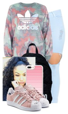 """Untitled #310"" by kyraarlene on Polyvore featuring adidas, Moschino, Casetify and adidas Originals"
