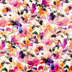 An elegant, bright and chic pink, orange, purple and black watercolor floral pattern featuring romantic and modern pastel watercolor flowers. Get this girly and stylish artistic flowers pattern. Perfect summer decorative gift for her. Pastel Watercolor, Watercolor Print, Favim, Flower Wallpaper, Floral Fabric, Beautiful Artwork, Beautiful Flowers, Wall Tapestry, Art Prints
