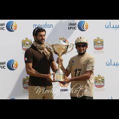 Nasser HIK and Juma DJM, 2nd CSIM Military World Endurance Championship-Dubai 06-03-14. Photo: morhafalassaf
