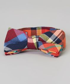 This Urban Sunday Red & Blue Plaid Little Rock Bow Tie by Urban Sunday is perfect! #zulilyfinds