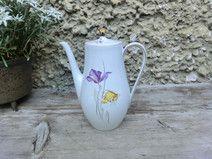 VINTAGE Kaffeekanne Kanne 50er Bavaria Iris Tulpe