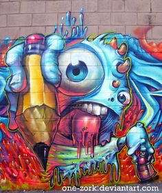 graffiti by Nestor David Marinero Cervano, via Behance
