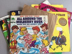 KID'S Vintage Records 45 RMP Vinyl Aristocats Sesame Street Little Red Caboose Alphabet Songs Time Humpty Dumpty Set of 13 by BROCANTEBedStuy on Etsy
