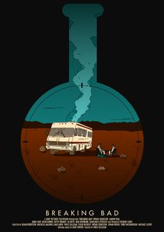 Love this awesome Breaking Bad poster. Art Breaking Bad, Affiche Breaking Bad, Breaking Bad Poster, Art And Illustration, Illustrations, Minimalist Poster, Minimalist Art, Minimalism Film, History Instagram