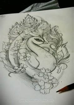 Peacock tattoo idea, not sure if this would actually make it somewhere on my body, but I do like the look. New school peacock Girly Tattoos, Body Art Tattoos, Tattoo Drawings, New Tattoos, Tatoos, Sketch Tattoo, Tatoo Dog, I Tattoo, Tattoo Pics