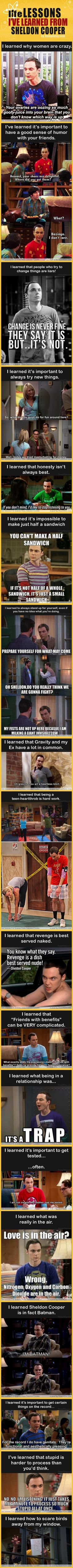 Life lessons i learned from sheldon cooper...