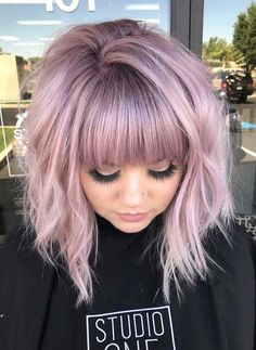 22 sexy hairstyles with bangs for every hair type - excellent 22 sexy hairstyles . - 22 sexy hairstyles with bangs for every hair type – Excellent 22 sexy hairstyles with bangs for e - Cute Bob Haircuts, Inverted Bob Hairstyles, Long Haircuts, Medium Hairstyles With Bangs, 2018 Haircuts, Line Bob Haircut, Bob Haircut With Bangs, A Line Bob With Bangs, Bob Bangs