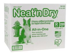 IRIS Neat n Dry Floor Protection and Training Pads for Puppies and Dogs, 200-Count - http://www.thepuppy.org/iris-neat-n-dry-floor-protection-and-training-pads-for-puppies-and-dogs-200-count/