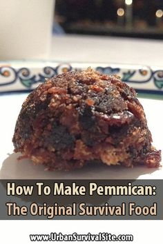 Pemmican is a portable, long-lasting, high-energy food. It's made of lean, dried meat that is crushed into powder and mixed with hot, rendered fat.