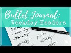 (22) Bullet Journal: Weekday Headers - YouTube