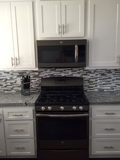 New Slate Appliances with Gray Cabinets