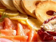 Bagels with Smoked Salmon and Whitefish Salad Recipe | Ina Garten | Food Network