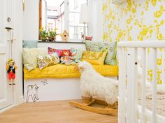 yellow nursery!! Very lovely!!! When I have my babies I will go with a non traditional color like this!! & Teal Teal is a must have!!! Lol!!!
