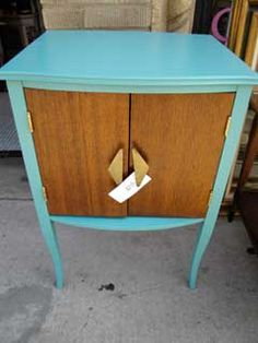 partially painted vintage furniture