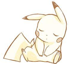 sleeping pikachu by mg9990.deviantart.com on @deviantART