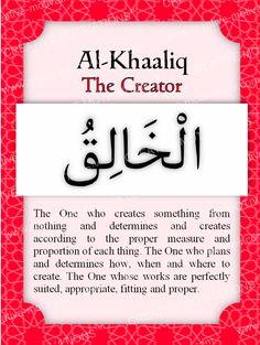 "Day 15: Al-Khaaliq - The Creator Al-Khaaliq means ""The Creator."" Allah is the…"