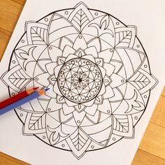 Mandala Follow Hand Drawn Adult Coloring Page от MauindiArts